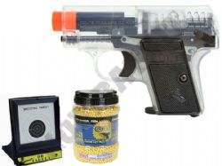 Colt 25 Compact Spring Airsoft Official BB Gun + 10000 Pellets & Target Set Bundle